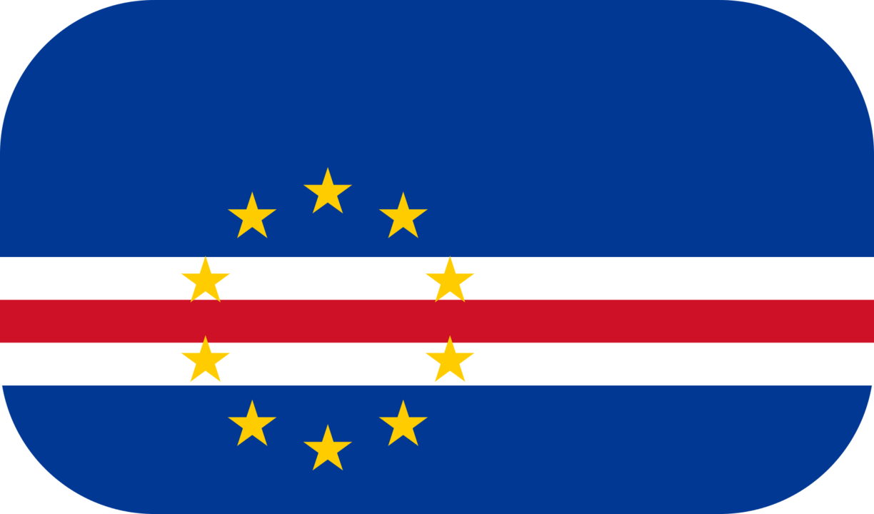 Cape Verde flag with rounded corners