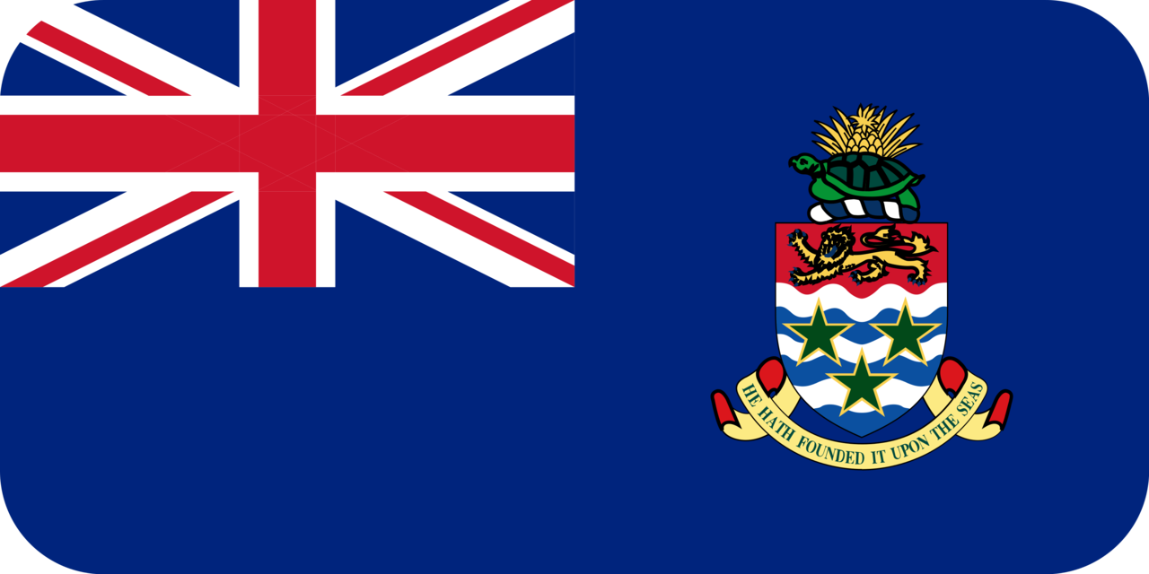 Cayman Islands flag with rounded corners