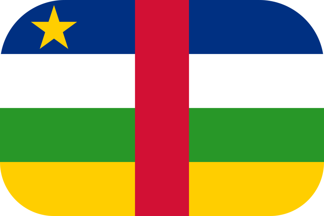 Central African Republic flag with rounded corners