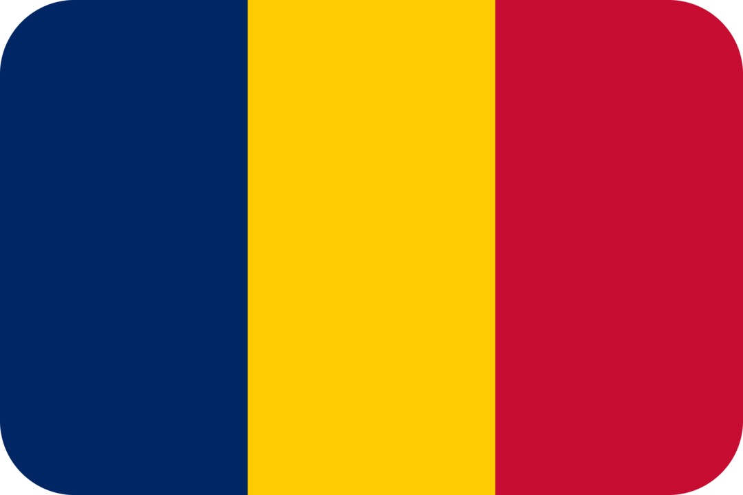 Chad flag with rounded corners