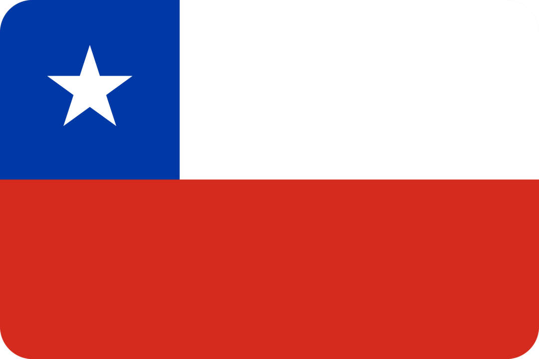 Chile flag with rounded corners