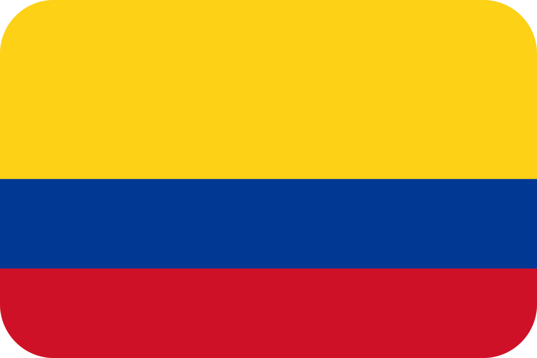 Colombia flag with rounded corners