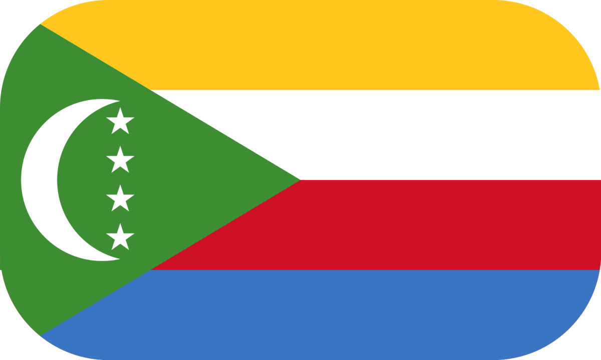 Comoros flag with rounded corners