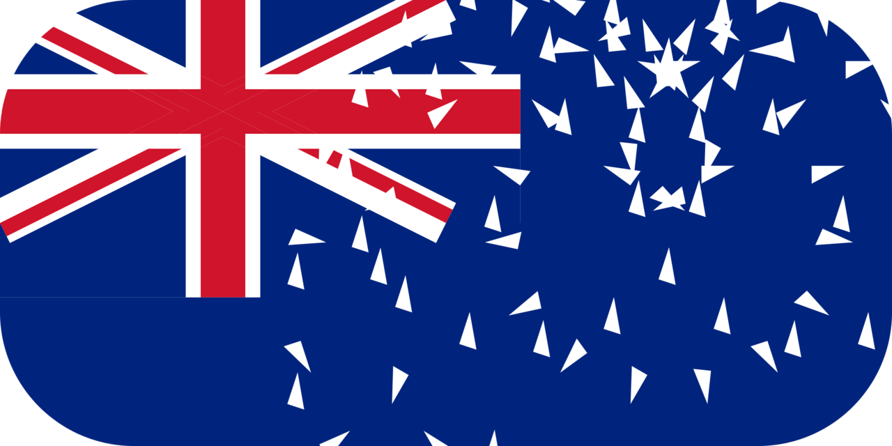 Cook Islands flag with rounded corners