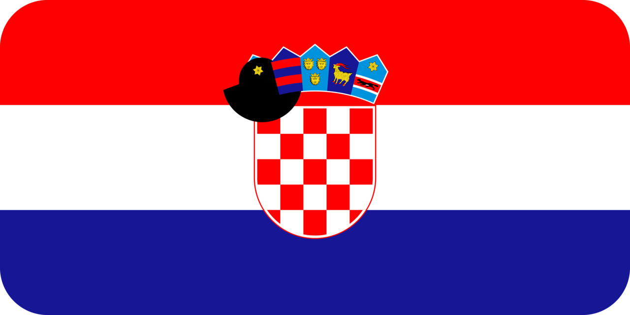 Croatia flag with rounded corners