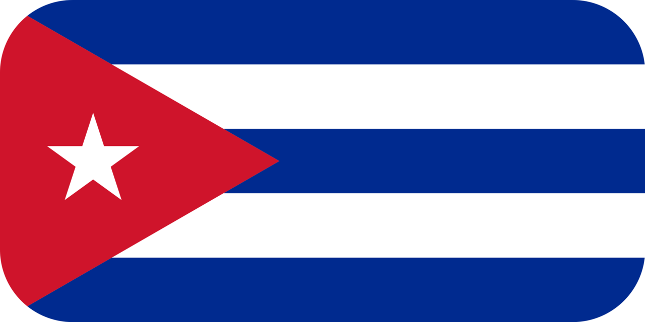 Cuba flag with rounded corners