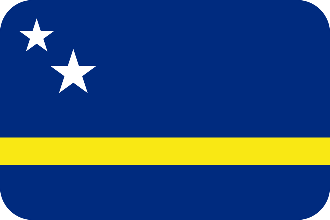 Curacao flag with rounded corners