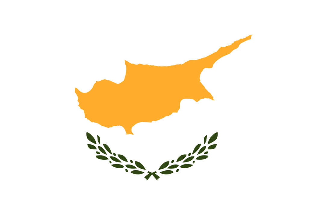 Cyprus flag with rounded corners