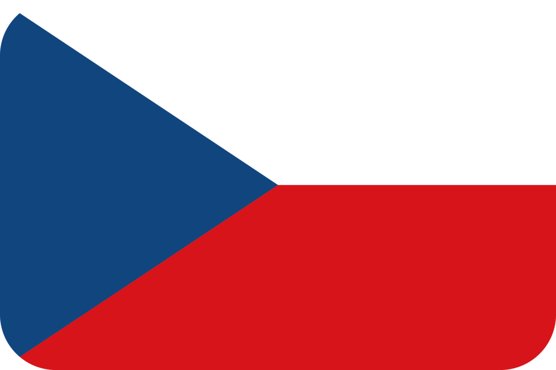 Czech Republic flag with rounded corners