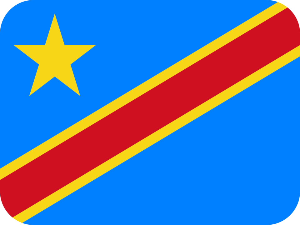 Democratic Republic of the Congo flag with rounded corners