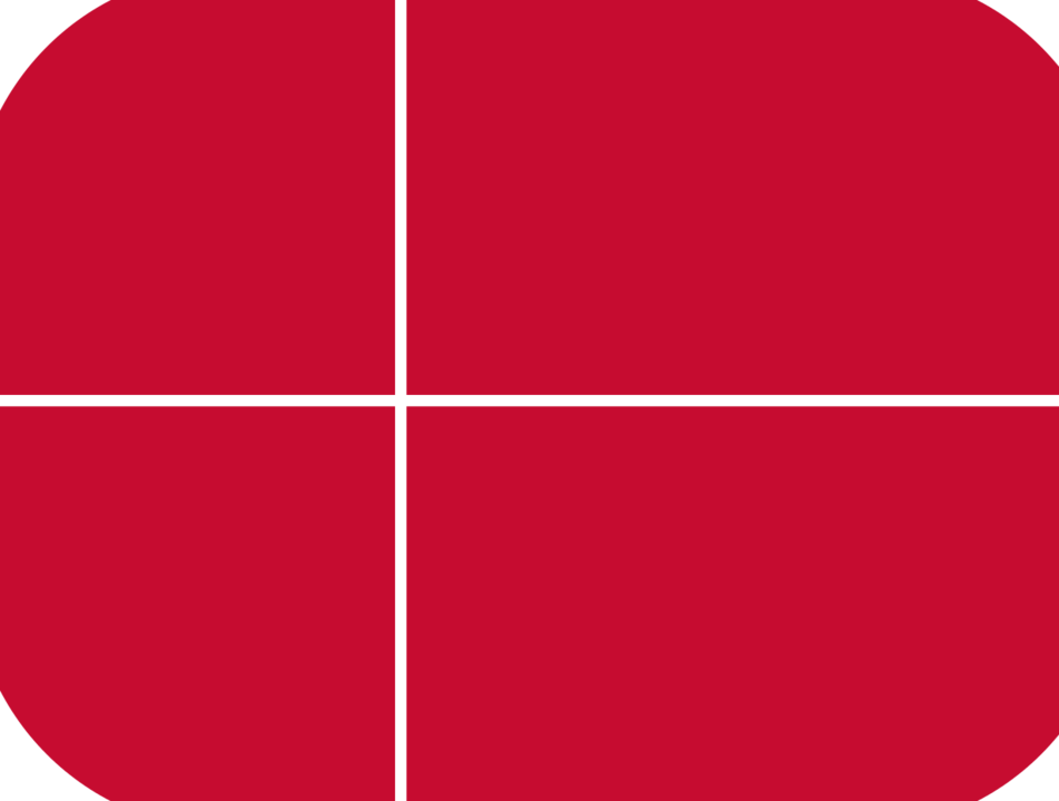 Denmark flag with rounded corners