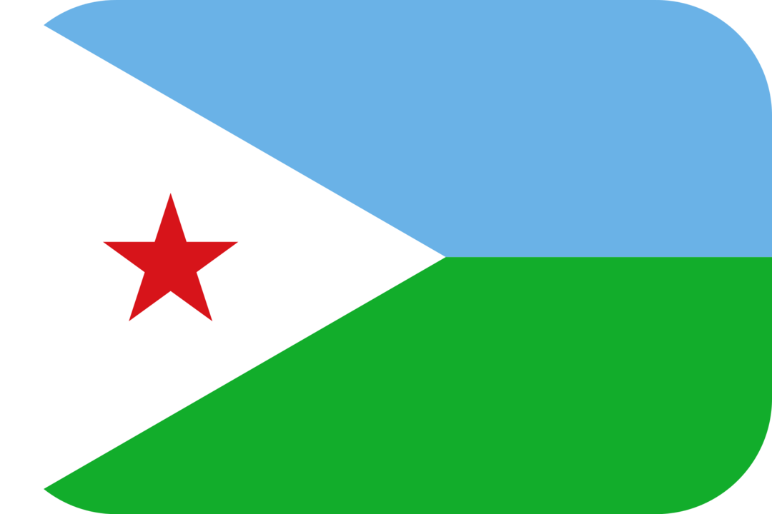 Djibouti flag with rounded corners