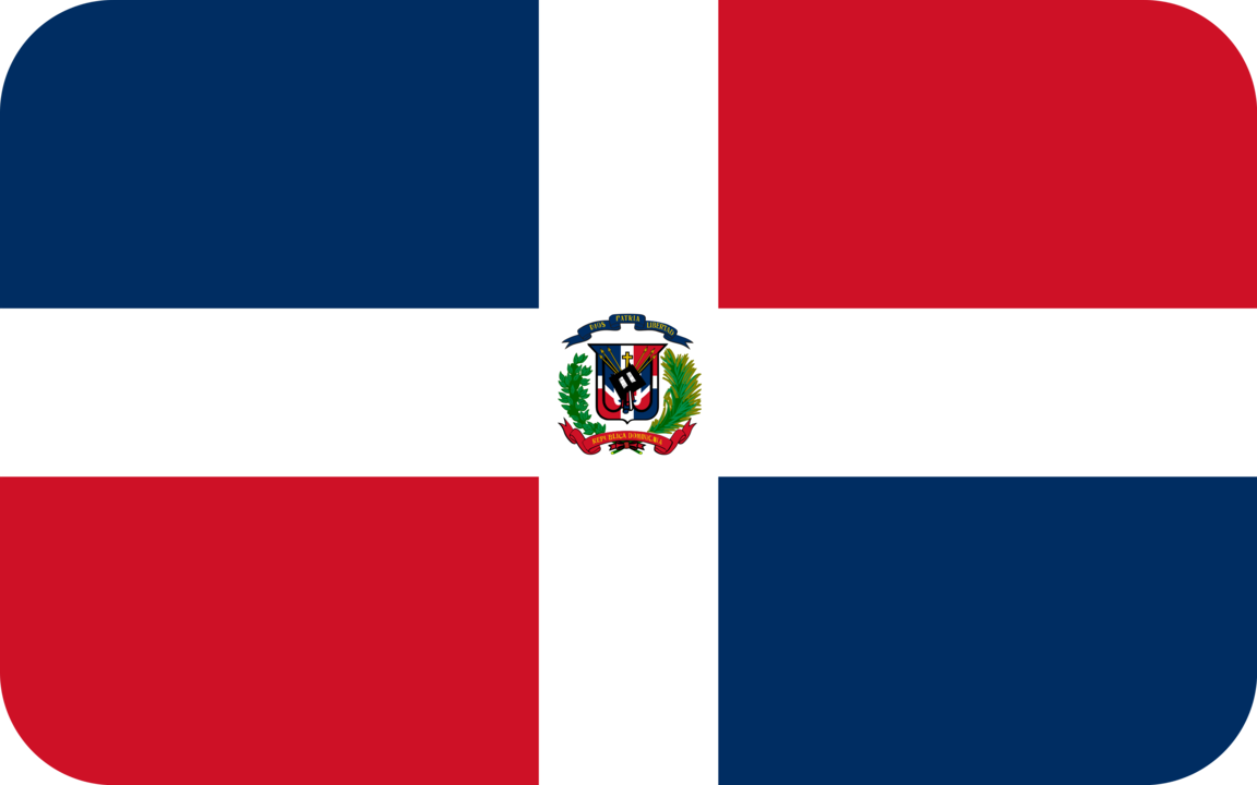 Dominican Republic flag with rounded corners