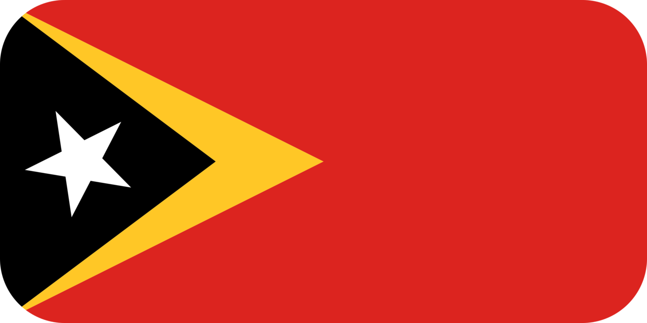 East Timor flag with rounded corners