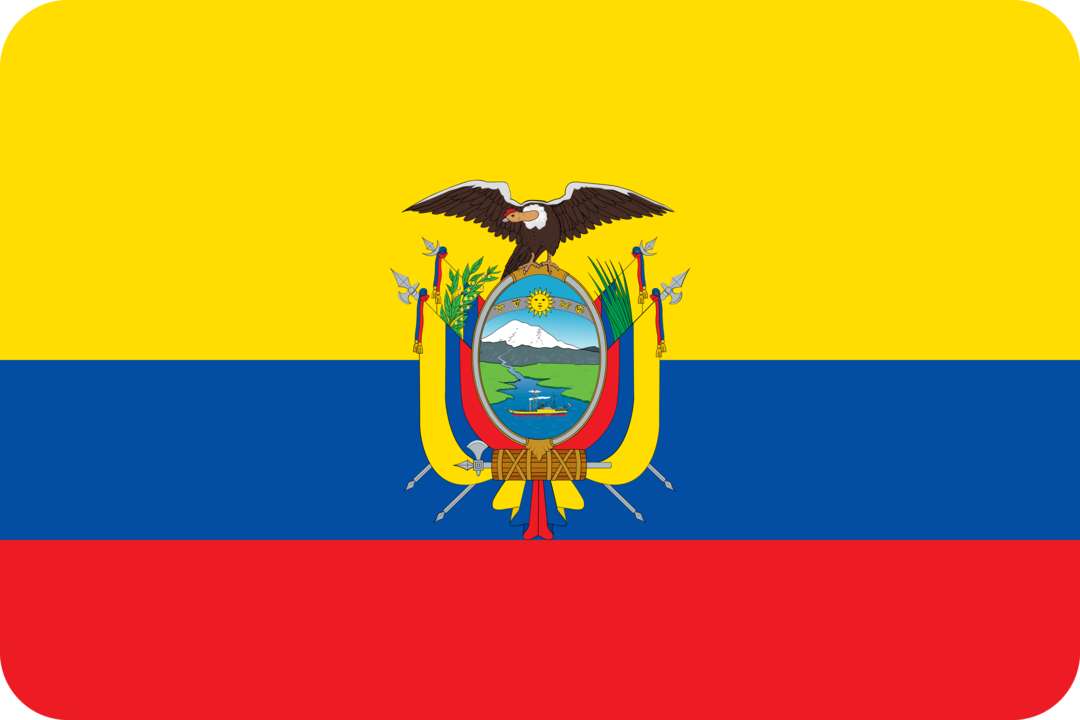 Ecuador flag with rounded corners