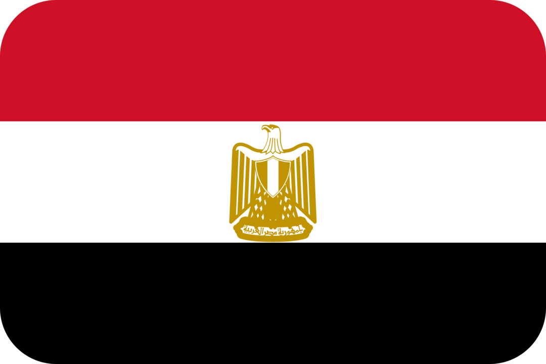 Egypt flag with rounded corners
