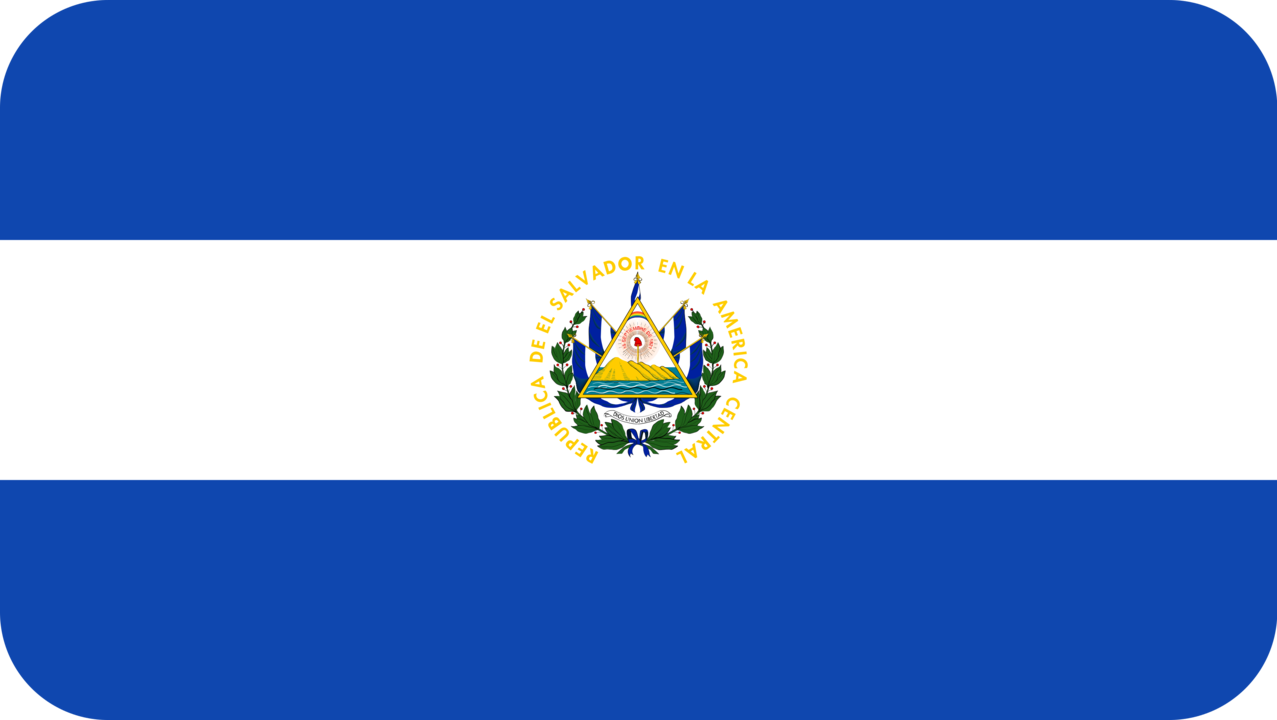 El Salvador flag with rounded corners