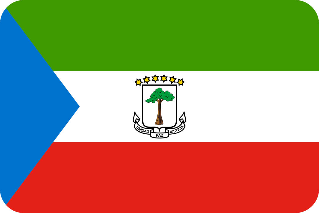 Equatorial Guinea flag with rounded corners
