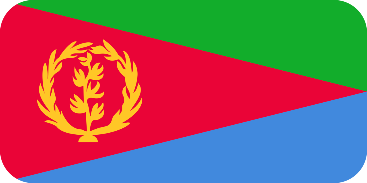 Eritrea flag with rounded corners