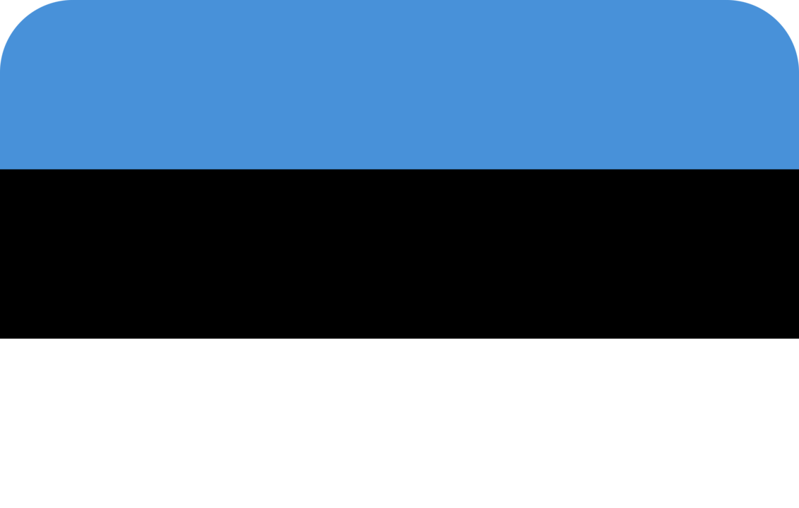 Estonia flag with rounded corners