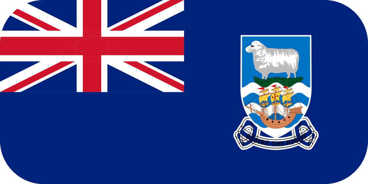 Falkland Islands flag with rounded corners