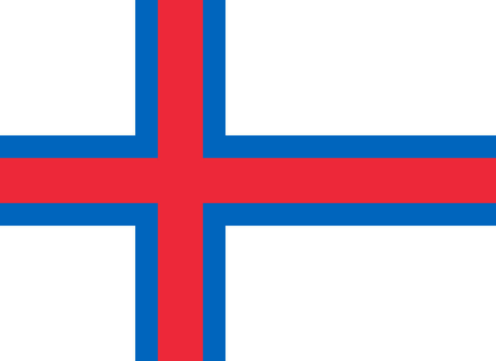 Faroe Islands flag with rounded corners