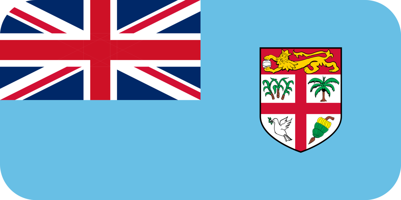 Fiji flag with rounded corners