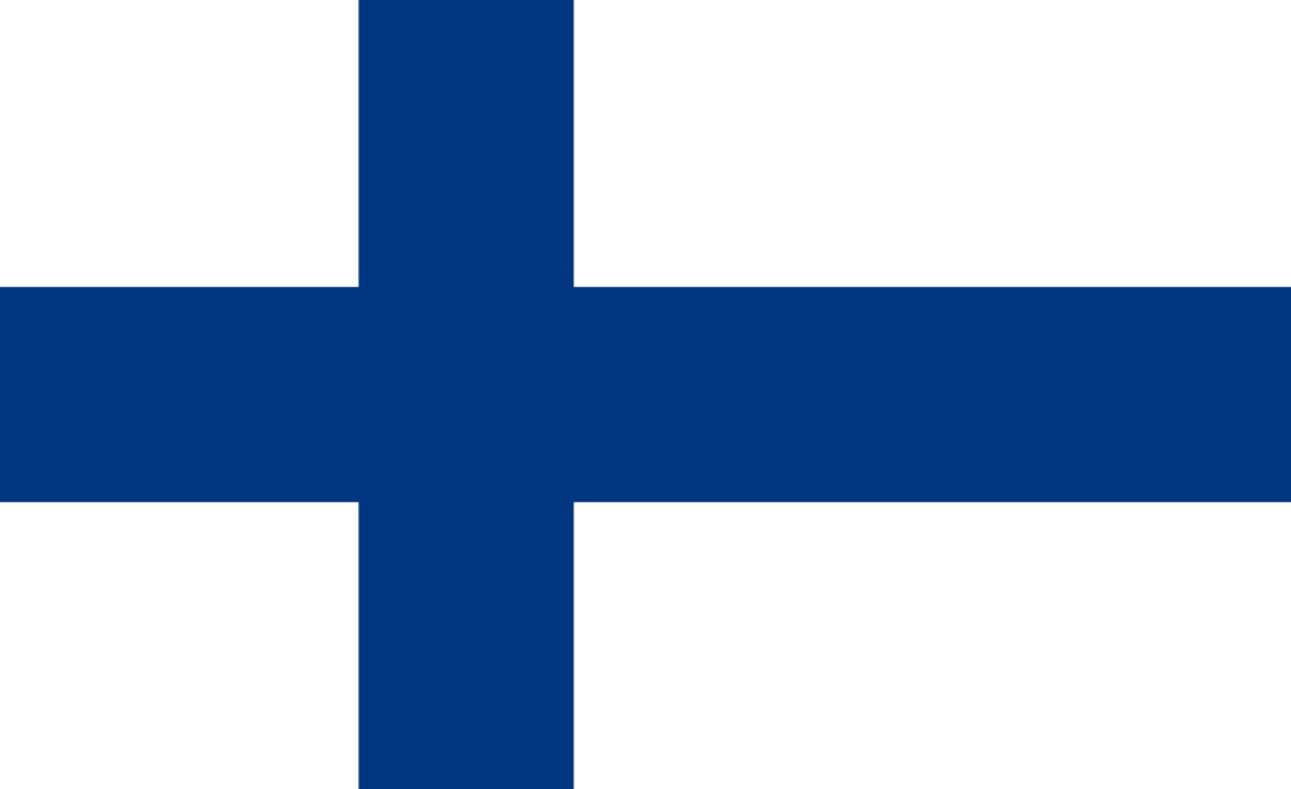 Finland flag with rounded corners