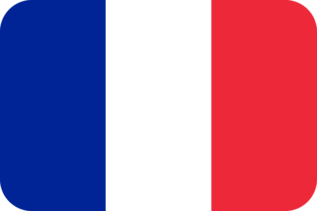 France flag with rounded corners