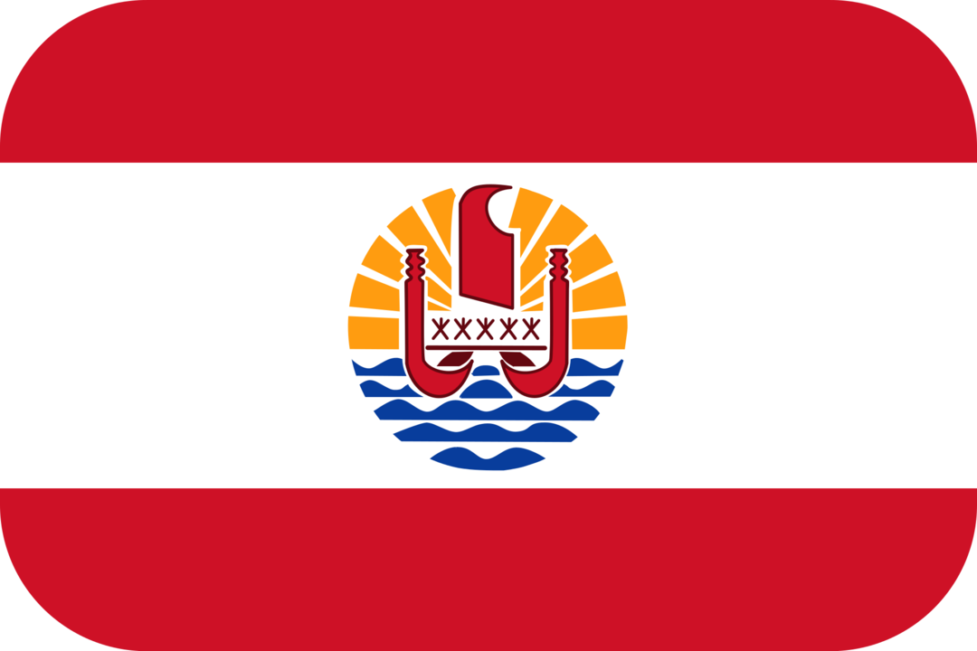 French Polynesia flag with rounded corners