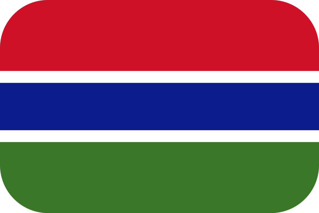 Gambia flag with rounded corners