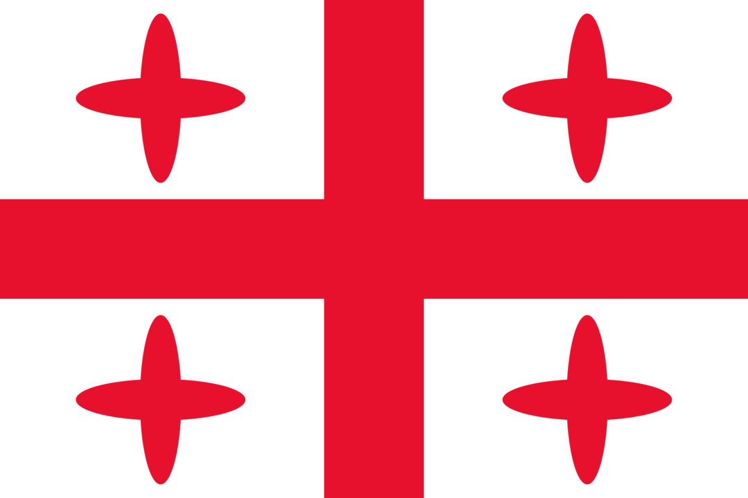 Georgia flag with rounded corners