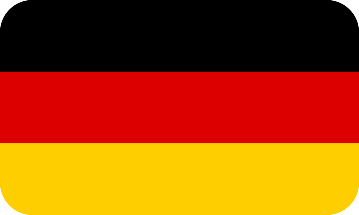 Germany flag with rounded corners