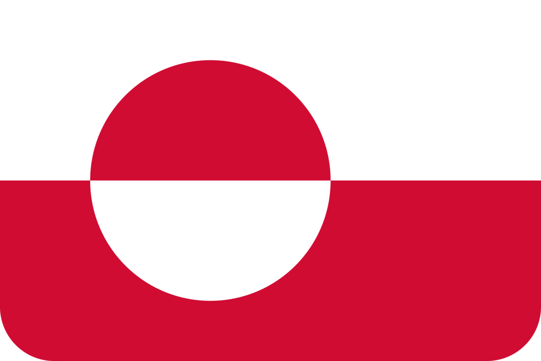 Greenland flag with rounded corners
