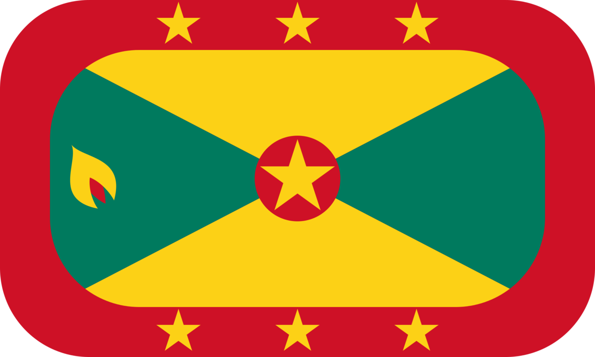 Grenada flag with rounded corners