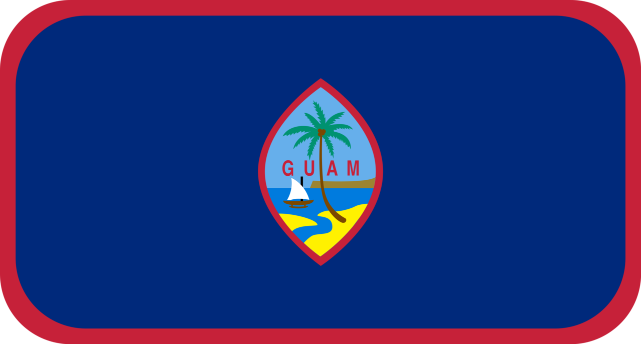 Guam flag with rounded corners