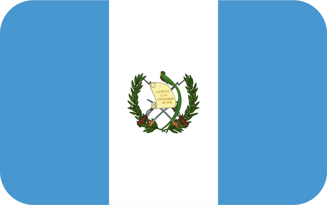 Guatemala flag with rounded corners