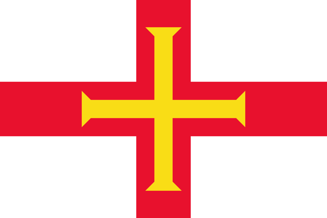 Guernsey flag with rounded corners