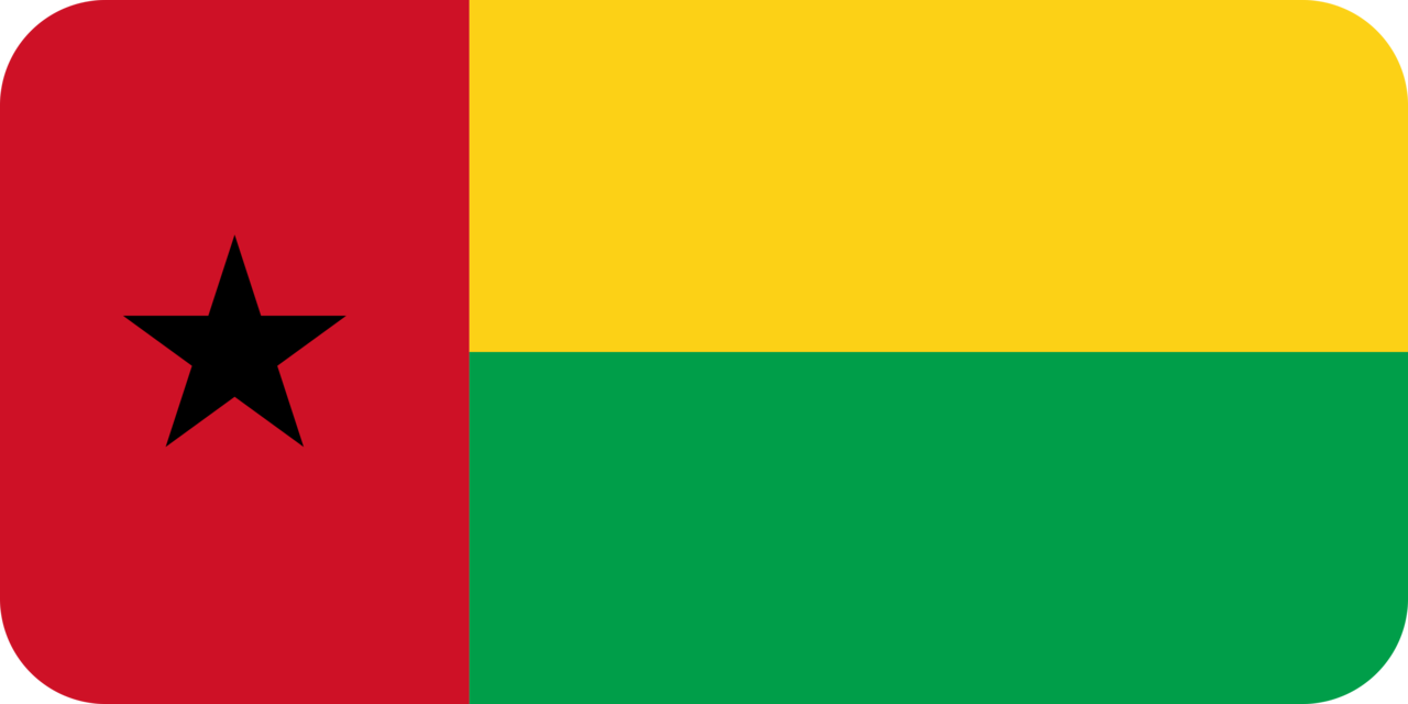 Guinea-Bissau flag with rounded corners