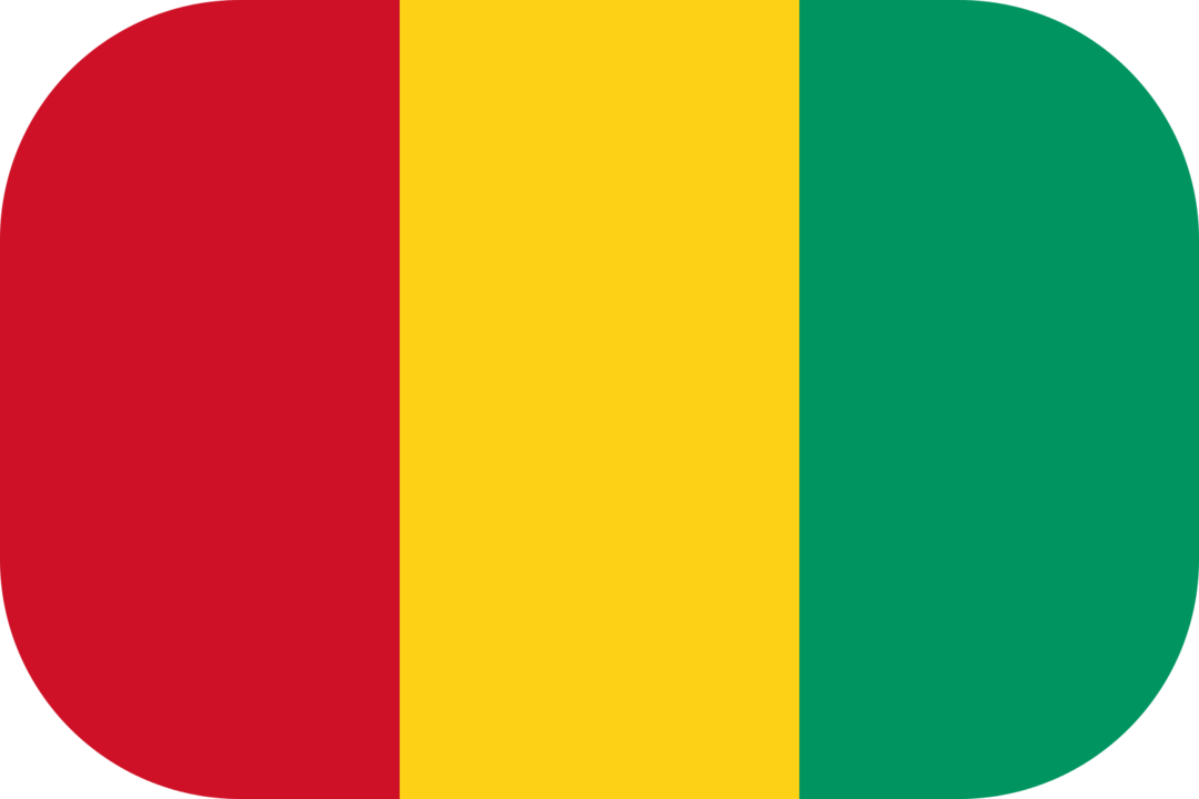 Guinea flag with rounded corners