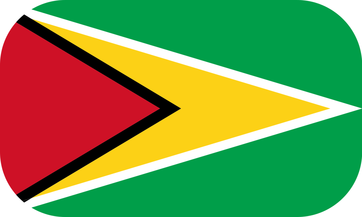 Guyana flag with rounded corners