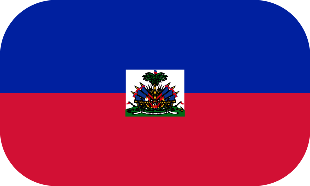 Haiti flag with rounded corners