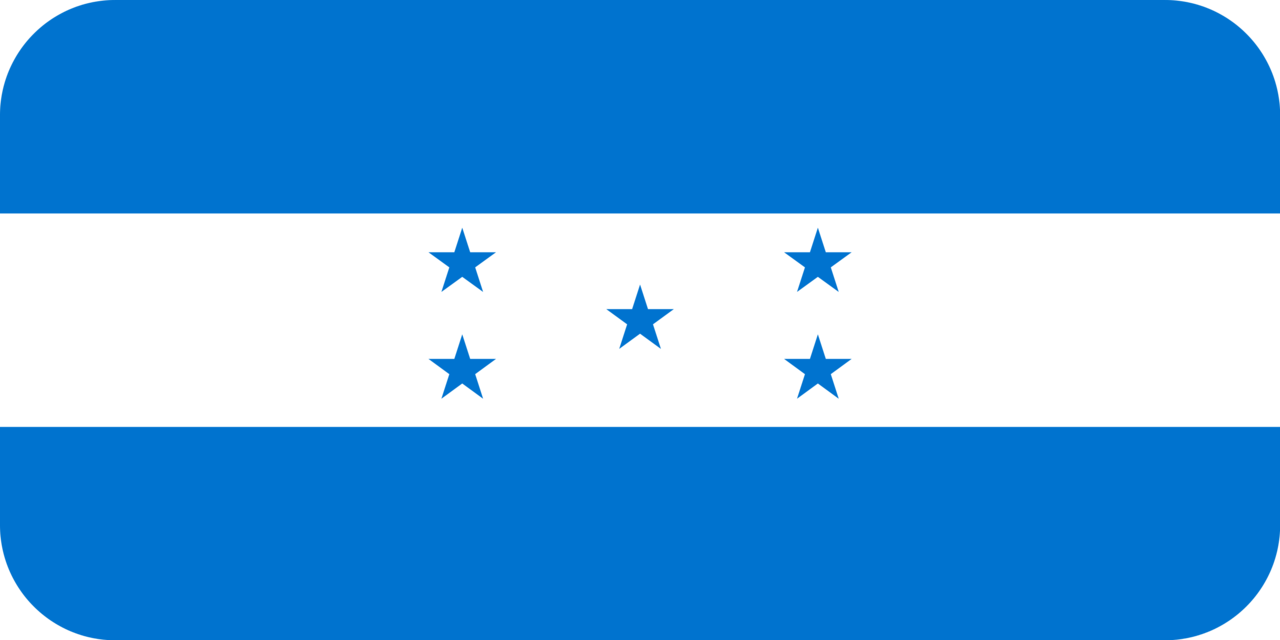Honduras flag with rounded corners