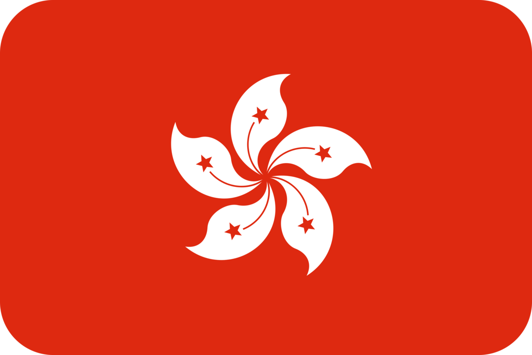 Hong Kong flag with rounded corners