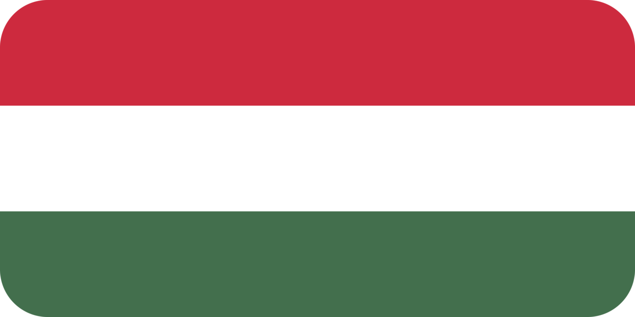 Hungary flag with rounded corners