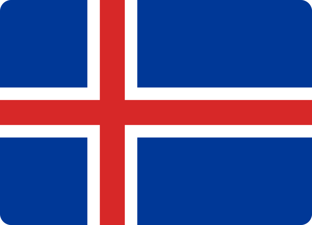 Iceland flag with rounded corners