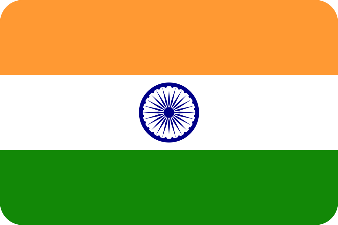 India flag with rounded corners