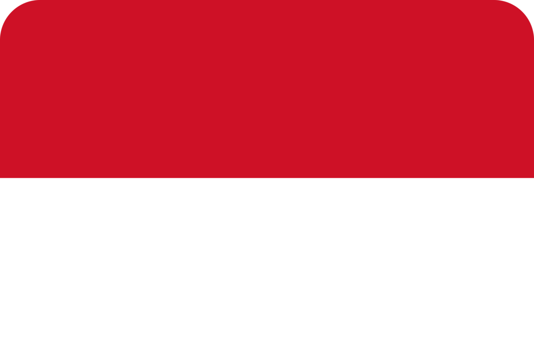 Indonesia flag with rounded corners