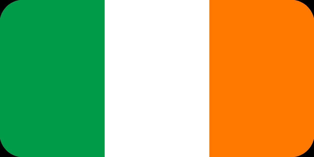 Ireland flag with rounded corners