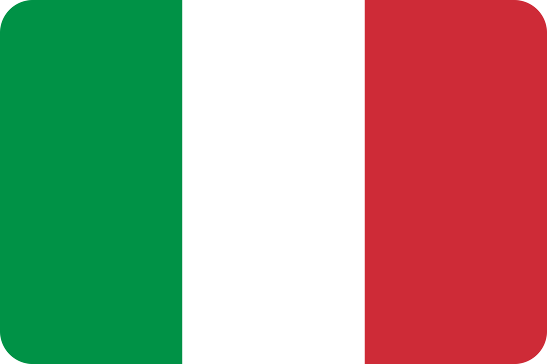 Italy flag with rounded corners